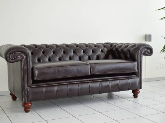 Chesterfield 3-er Sofa Allingham in Old English Smoke