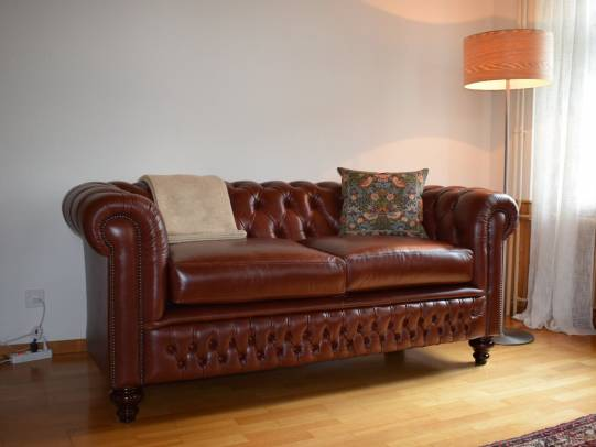 Chesterfield Shackleton 3er-Sofa in Old English Chestnut
