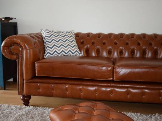 Chesterfield 3er Sofa Raleigh in Heritage Tan