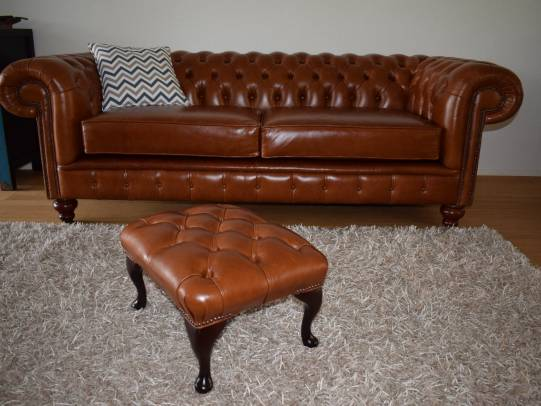 Chesterfield 3er-Sofa Raleigh in Heritage Tan
