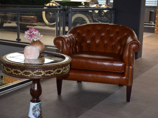 Chesterfield Shelly Tub Chair in Heritage Tan